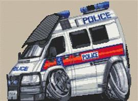 Police Transit Van Cross Stitch Kit