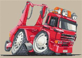 Leyland Daf Skip Truck Cross Stitch Kit