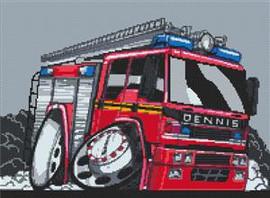 Dennis Firetruck Cross Stitch Kit