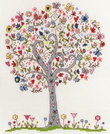 Love Tree Cross Stitch Kit