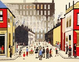 Street Scene Cross Stitch Kit