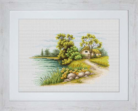 Landscape With A Lake Cross Stitch Kit By Luca S
