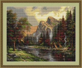Mountain Picnic Cross Stitch Kit By Luca S