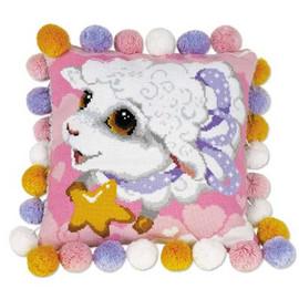 Lamb Cushion Cross Stitch Kit By Riolis