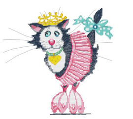 Ballerina Princess Whiskers Cross Stitch Kit By Stitchtastic