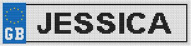 Gb Number Plate Cross Stitch Kit By Stitchtastic