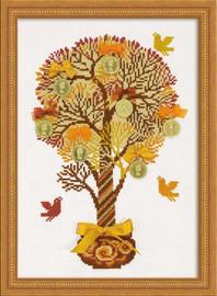 Tree Of Money Cross Stitch Kit