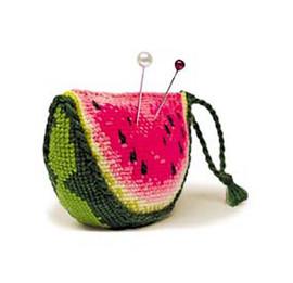 Watermelon Pincushion Cross Stitch Kit