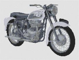 Bsa Superrocket Motorcycle Cross Stitch Pattern By Stitchtastic