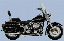 Harley Anniversary Heritage 2003 Cross Stitch Kit By Stitchtastic
