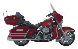 Harley Davidson Ultra Glide Anniversary Edition Cross Stitch Kit By Stitchtastic
