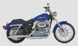 Harley Davidson Xl883 Custom Sportster Cross Stitch Kit By Stitchtastic