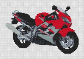 Honda Cbr Motorcycle (Small Design) Cross Stitch Kit By Stitchtastic