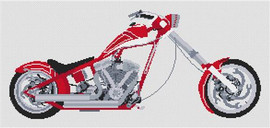 Orange County Chopper (Snap On Tools) Cross Stitch Kit By Stitchtastic