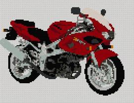 Suzuki Tl1000S  Motorcycle Cross Stitch Kit By Stitchtastic