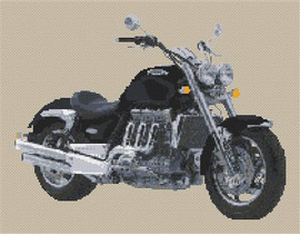 Triumph Rocket Iii Motorbike Cross Stitch Kit By Stitchtastic