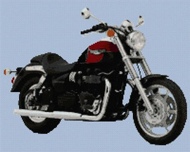 Triumph Speedmaster 2004 Motorbike Cross Stitch Kit By Stitchtastic