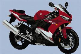 Yamaha R6 2005 Motorcycle Cross Stitch Kit By Stitchtastic