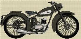 Bsa D3 Bantam 1948 Cross Stitch Kit