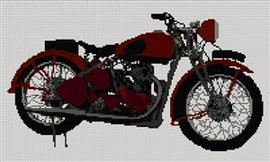 Bsa M20 Military Motorcycle Cross Stitch Kit