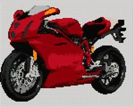 Ducati 999 Motorcycle Cross Stitch Kit