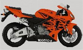 Honda Cbr 600Rr 2006 Motorcycle Cross Stitch Kit