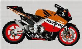 Honda Repsol 2004 Motorcycle Cross Stitch Kit