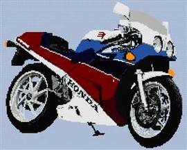 Honda Vfr400 Nc30 Motorcycle Cross Stitch Kit