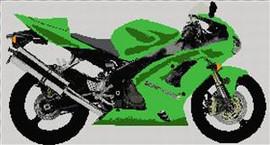 Kawasaki Ninja Zx6Rr Motorcycle Cross Stitch Kit