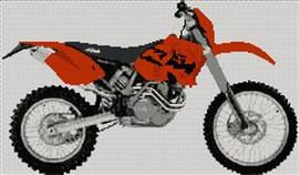 Ktm 450 Exec 2003 Motorcycle Cross Stitch Kit
