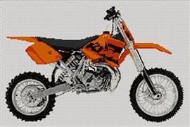 Ktm 65 Motorcycle Cross Stitch Kit