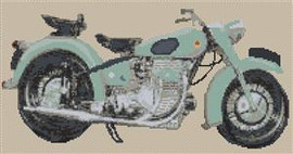 Sunbeam S7 Motorcycle Cross Stitch Kit