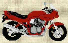Suzuki Bandit Gsf 600S 1997 Motorcycle Cross Stitch Kit