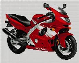 Yamaha Yzf 600R Thundercat Motorbike Cross Stitch Kit