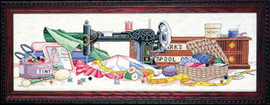 Sewing Room Cross Stitch Kit By Design Works