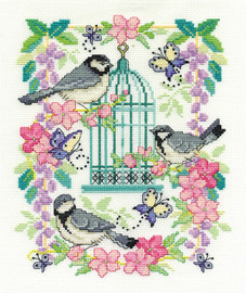 Oriental Birdcage  Cross Stitch Kit By Dmc