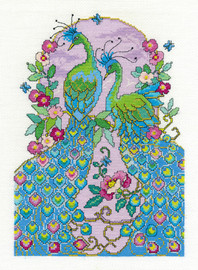 Peacocks Cross Stitch Kit By Dmc