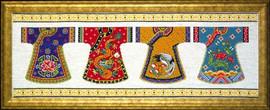 Kimono Row Cross Stitch Kit By Design Works