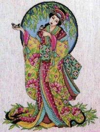 Oriental Grace Cross Stitch Kit By Design Works