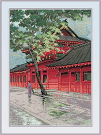 Red Pagoda Cross Stitch Kit