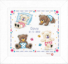 First Steps Birth Sampler Cross Stitch Kit