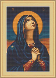Icon Of The Virgin Cross Stitch Kit By Luca S