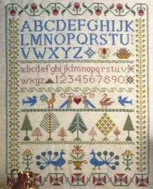 Victorian Sampler Cross Stitch Kit