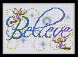 Believe Cross Stitch Kit By Design Works