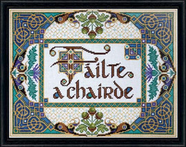 Welcome Friends  - Failte A Chairde Cross Stitch Kit By Riolis