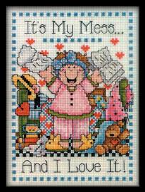 My Mess Cross Stitch Kit By Design Works