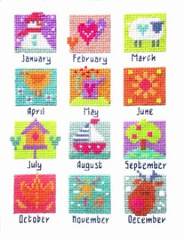 A Year In Stitches Cross Stitch Kit
