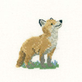 Fox Cub Cross Stitch Kit For Beginners