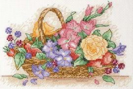 Floral Basket Starter Cross Stitch Kit