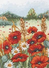 Poppy Field Starter Cross Stitch Kit